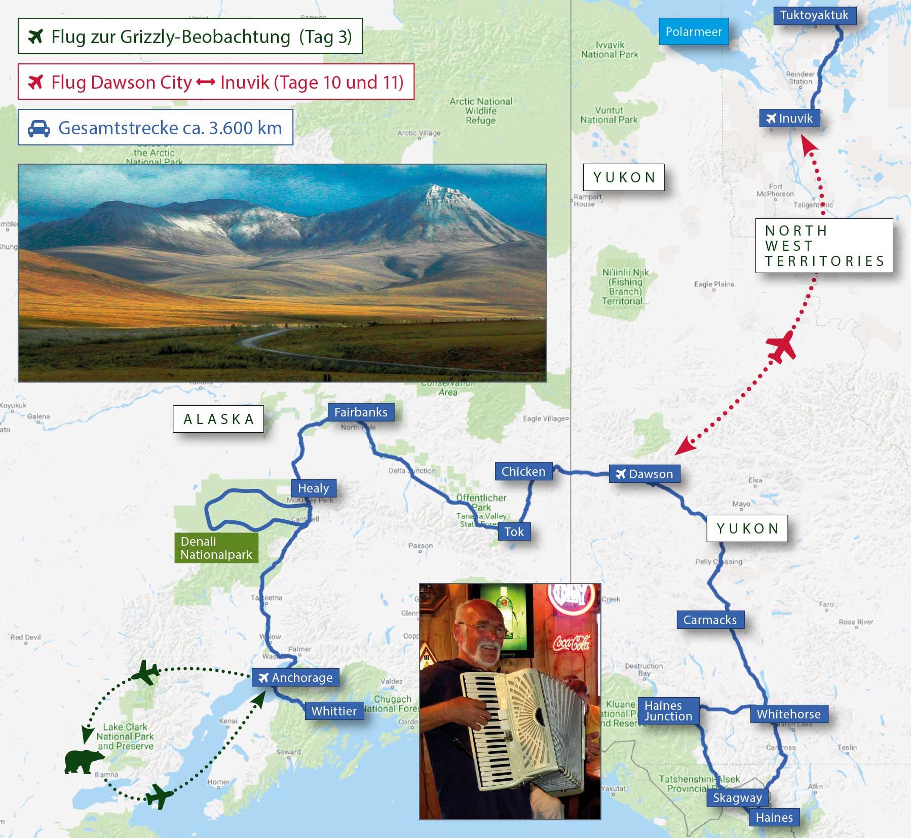 Polarkreis Alaska Karte.Kleingruppenreise The Last Frontier And Polar Circle