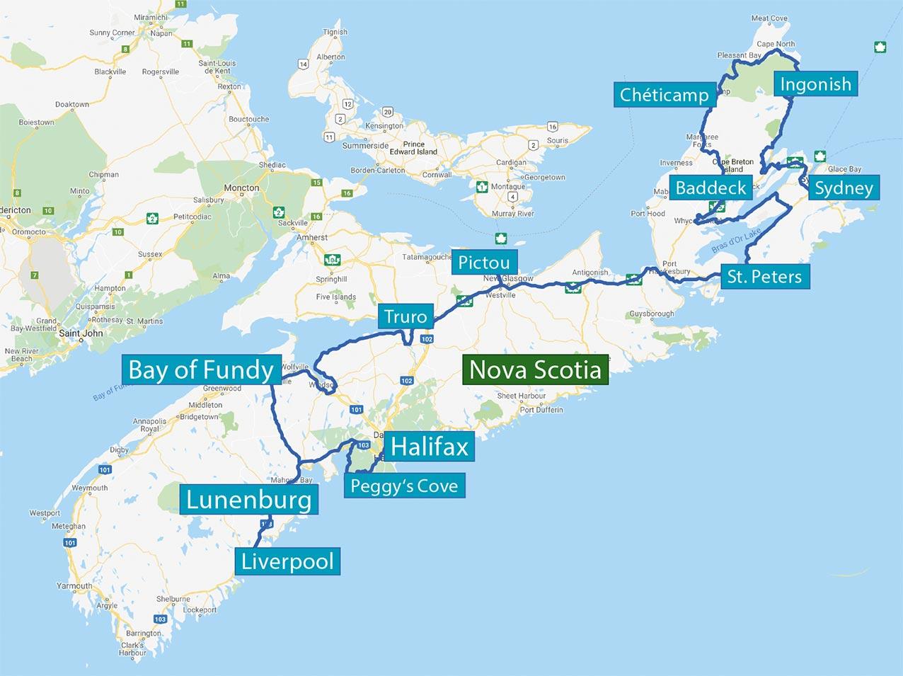 Neufundland und Nova Scotia
