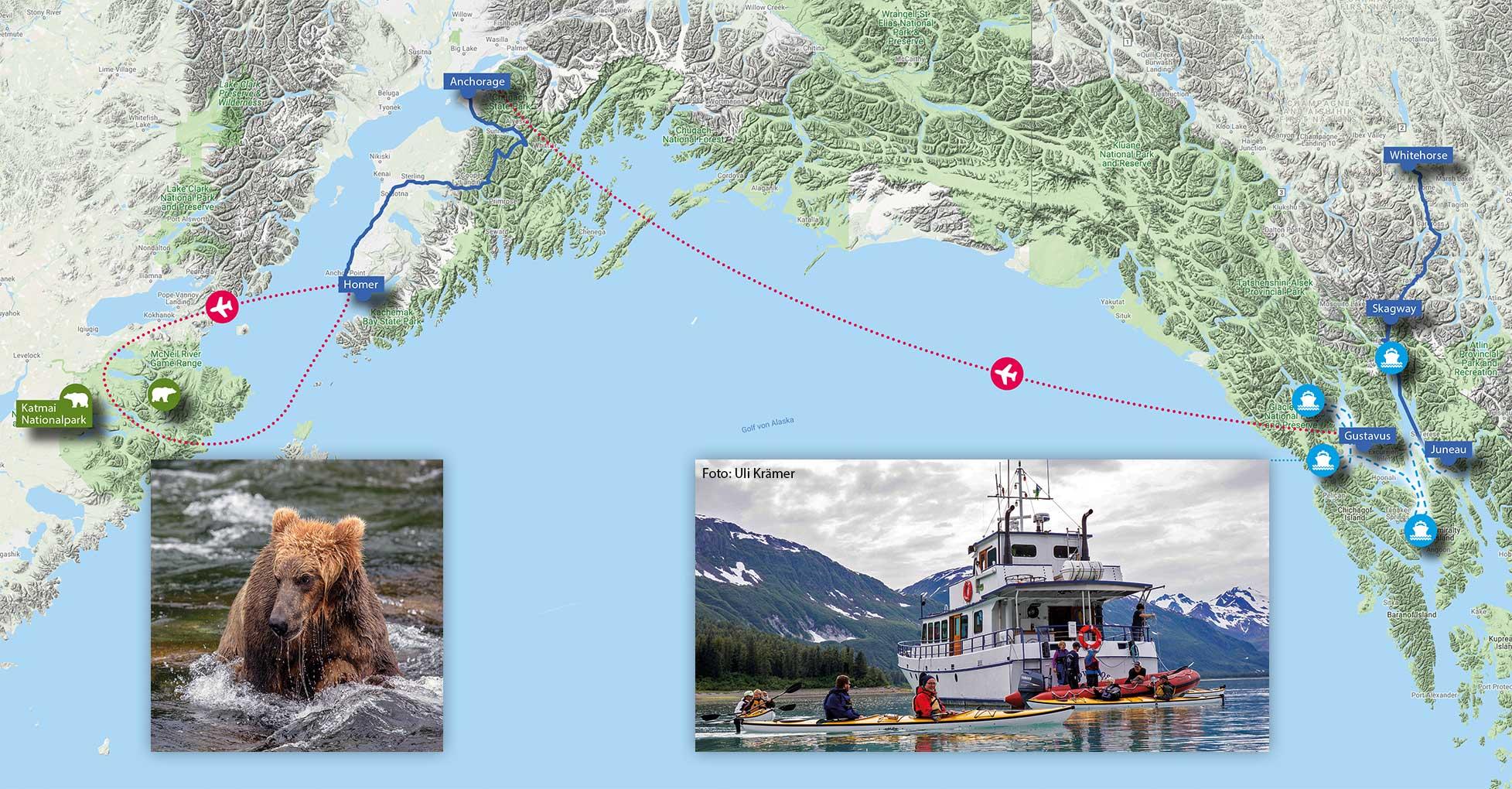 CAPTAINS'S CHOICE - Alaska, Grizzlys and Whales