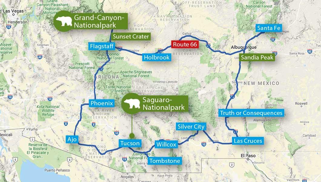Abenteuer im Südwesten der USA