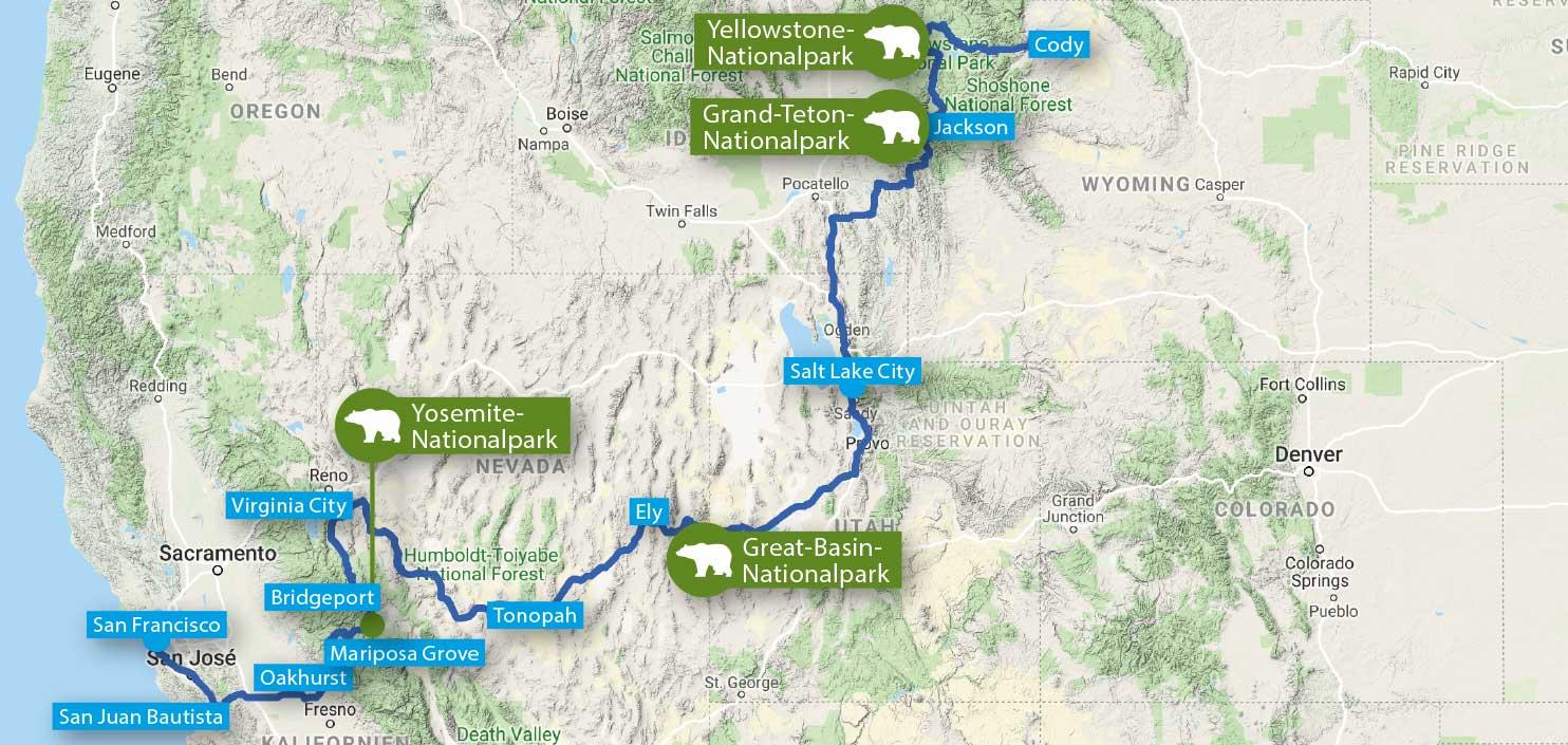 USA Abenteuerreise Yellowstone