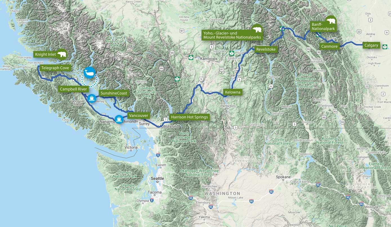 Best of Westkanada & Alaskas Gletscherwelten